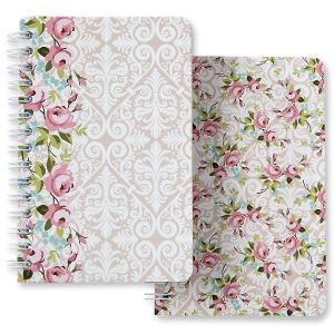 Wallpaper Flowers Spiral Notebook