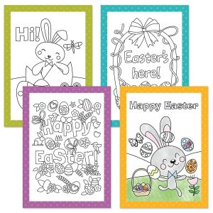 Kids' Coloring Easter Cards
