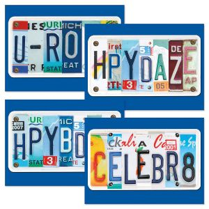 License Plate Birthday Cards