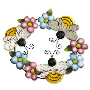 Bees & Flowers Garden Wreath