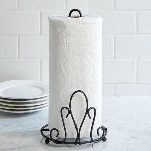 Black Pattern Paper Towel Holder