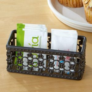 Black Pattern Sugar Packet Holder