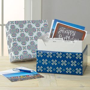 Fresh Patterns Card Organizer Box
