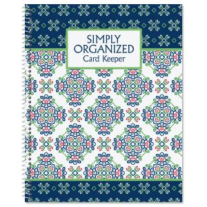 Fresh Patterns Card Organizer Book