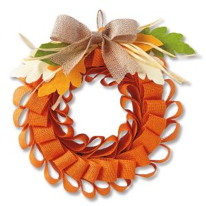 Burlap Mesh Autumn Wreath