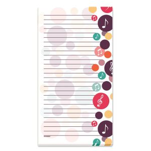 Music Lined Magnetic Shopping List Pads