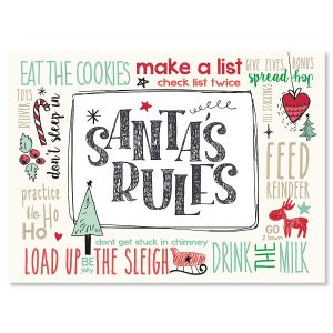 Santa's Rules Christmas Cards