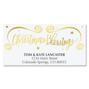 Christmas Blessings Deluxe Address Labels