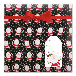 Santa's Sweets Jumbo Rolled Gift Wrap and Labels