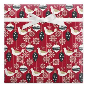Distressed Ornament Jumbo Rolled Gift Wrap