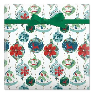 Antique Ornaments Jumbo Rolled Gift Wrap