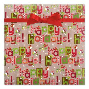 Woodland Type Jumbo Rolled Gift Wrap