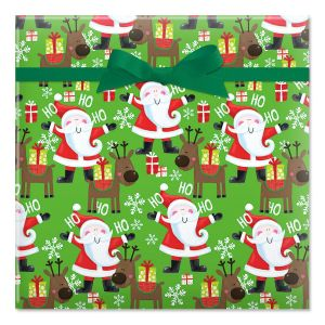 Santa's Christmas Helper Jumbo Rolled Gift Wrap