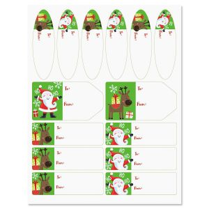 Santa's Christmas Helper Gift Labels