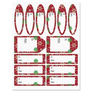 Retro Snowflakes Labels