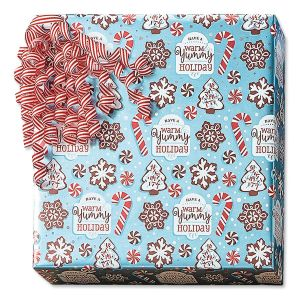 Christmas Confections Foil Rolled Gift Wrap