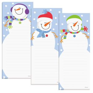 Snowman Shopping List Pads