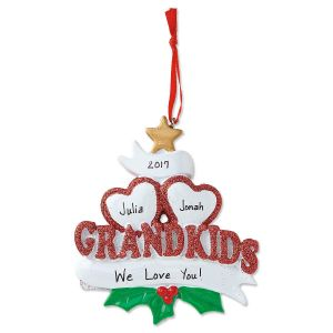 Grandkids with Hearts Ornament