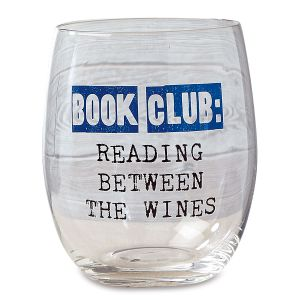 Book Club Stemless Wine Glass - Reading