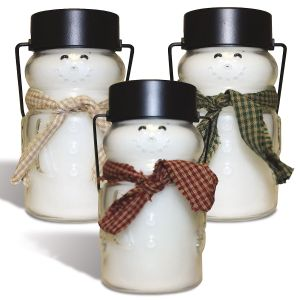Scented Snowman Jar Candle