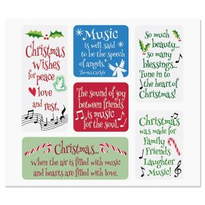 Flexible Christmas Music Magnets