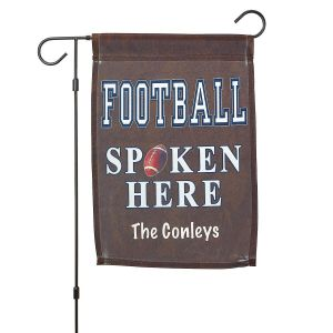 Personalized Football Garden Flag and Garden Flag Stand by Current Catalog
