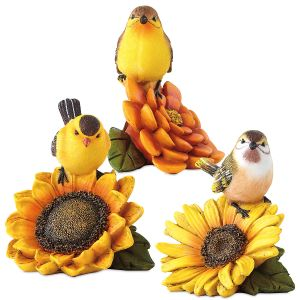 Bird-and-Flower Figurines