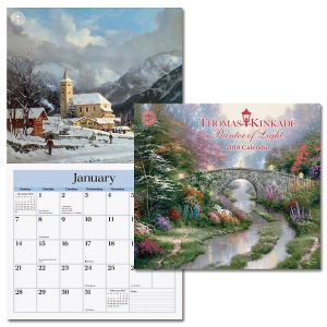 2018 Thomas Kinkade Painter of Light™ Deluxe Wall Calendar