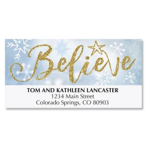 Believe Snowman Deluxe Address Labels