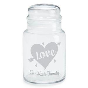 Love Personalized Treat Jar