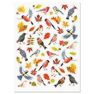 Autumn Birds Stickers - BOGO