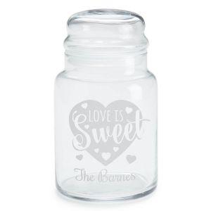 Love Is Sweet Personalized Treat Jar