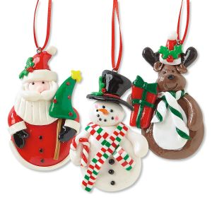 Set of 3 Christmas Character Ornament