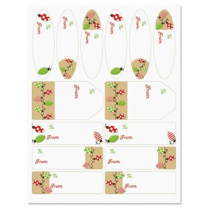 Kraft Holiday Lights Labels