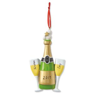Cheers Personalized Christmas Ornament