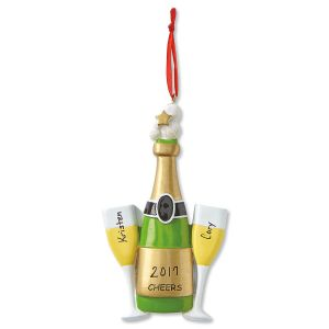 Personalized Cheers Christmas Ornament