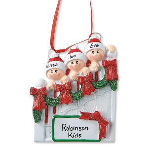 Staircase Personalized Christmas Ornaments