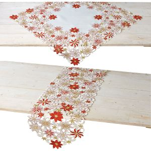 Diecut Christmas Square Table Linen and Table Runner