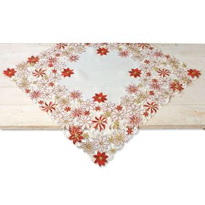 Diecut Christmas Square Table Linen
