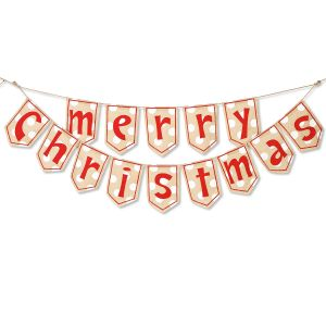 Merry Christmas Burlap Garland