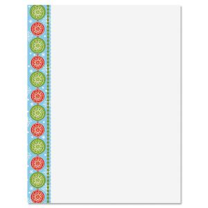 Joyful Christmas Letter Papers