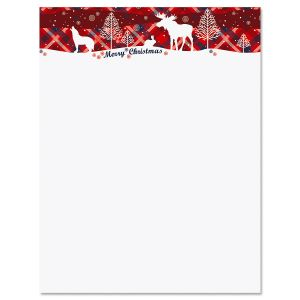 Winter Cabin Christmas Letter Papers