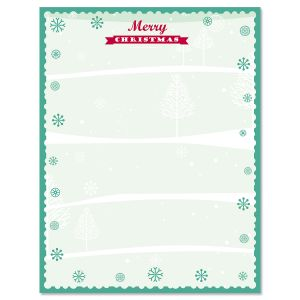Joyful Christmas Christmas Letter Papers