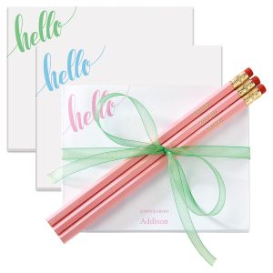 Personalized Hello Notepad
