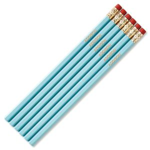 Pastel Blue #2 Hardwood Personalized Pencils