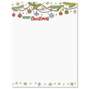 Ornament Christmas Letter Papers