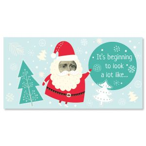 Santa Face Holiday Cash Cards