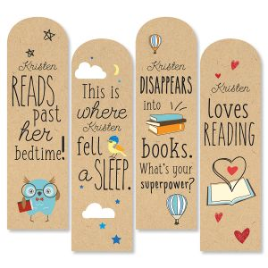 Die-Cut Personalized Reading Bookmarks