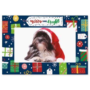 Merry and Bright Photo Sleeve Christmas Cards