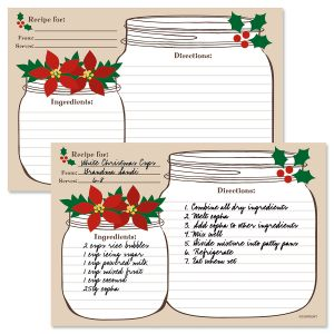 Christmas Mason Jar Recipe Cards